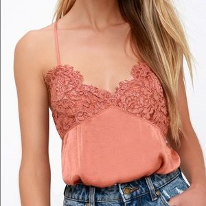 Romantic Free People silky and lace body suit
